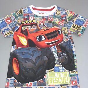 Nickelodeon 5 Blaze and the monster truck shirt.
